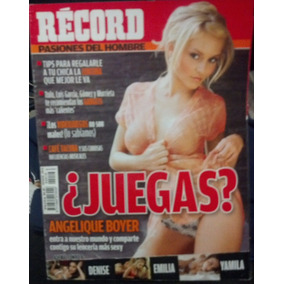 Revista Record Con Angelique Boyer, Con Poster