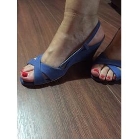 Sandalias Azules Prune Talle 37 De Gamuza