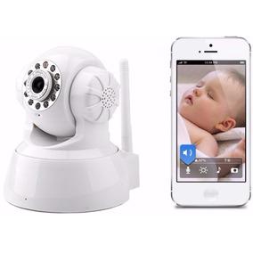 Babá Eletrônica Câmera Wifi Visão Noturna Microfone S/ Fio