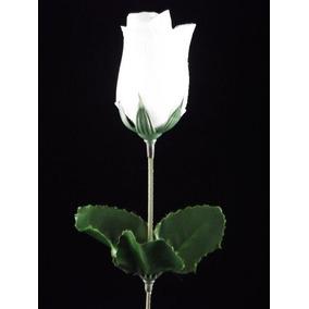 100 Botões De Rosas Brancas - Flores Artificiais Artificial