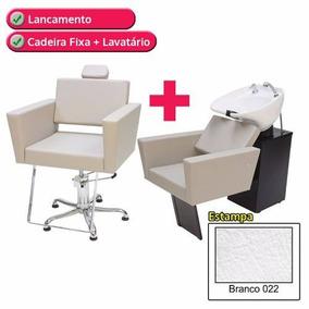 1 Poltrona Cadeira Kixiki Fixa +1 Lavatório Flex Niágara
