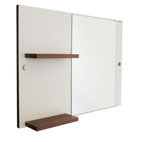 Painel Mdf Espelheira Com Espelho Para Banheiro 60x44 Cm