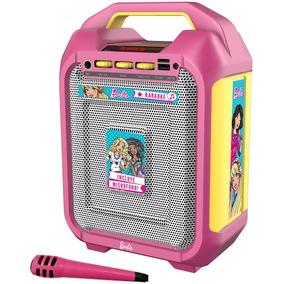 Parlante Inalámbrico Portatil Karaoke Barbie 120w+mic Mattel