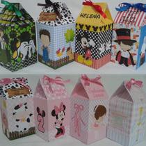 Caixa Bala Personalizadas Caixa Milk Varios Temas