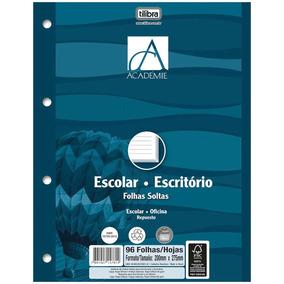 Bloco P/fichario Univ Academie Branco 96f 203x280mm C/25