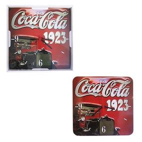 10un Relogio De Parede Quadrado Coca Cola 1923 29cm