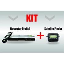 Receptor Parabólica Digital + Localizador De Satélite Finder