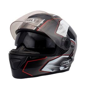 Capacete Moto Race Glass Swell Preto Viseira Interna Tam 58