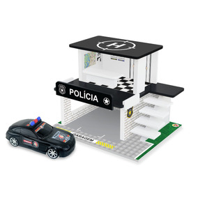 Brinquedo - Posto Policial Com Carrinho Ref. 92