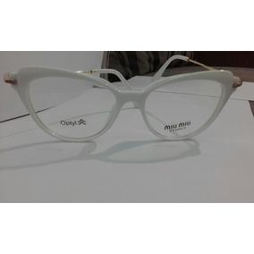 Armacao De Oculos Miu Miu Branca Armacoes - Óculos no Mercado Livre ... 258885a702