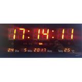 Relógio Parede Digital Led Bivolt Grande 36x16cm Jh-3615p