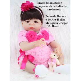 Bebe Reborn-boneca Menina Realista-100% Pode Dar Banho .