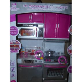 Kit Cozinha Para Bonecas Barbie E Similares