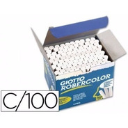100x Giz Escolar Giotto Robercolor Branco Antialérgico
