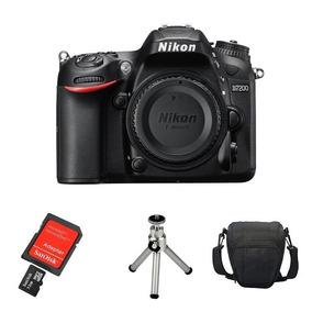 Câmera Nikon D7200 Corpo + Sd32gb + Bolsa + Tripé
