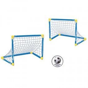 Set 2 Portería De Futbol Soccer Armable Para Niño Infantil