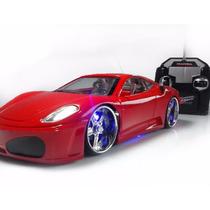 Carrinho Controle Remoto Ferrari Leds Nas Rodas E Farol