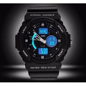Relógio Esportivo Corrida Dual C/luz Preto Frete Grátis Top!