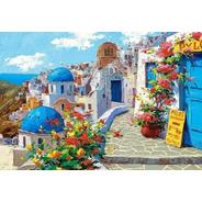 Lienzo Pinta Por Números Santorini Grecia Grupo Educar