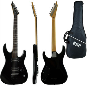 Guitarra Double Cutaway Esp Ltd M10 Blk Preta Com Bag