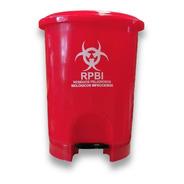 Bote De Basura Redondo Tapa De Pedal Rojo Rpbi 21 Lts