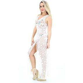 Vestido Morena Rosa De Praia Off White Pv18