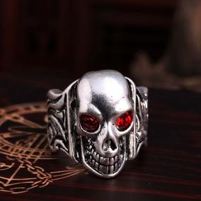 Jóias, Semi Jóias, Anel Punk Gothic Skull, Smart Ring