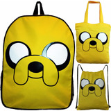 Kit 3 Peças Bolsa E Mochilas Jake Cartoon Network Geek Anime
