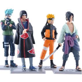 Naruto - Sasuke - Itachi - Kakashi - Kit Com 4 Bonecos