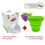 Copa Menstrual Angelcup + Vaso Esterilizador Envío Gratis
