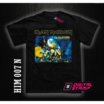 Remeras Iron Maiden Heavy Metal 7. Estampado Digital Unicas!