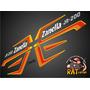 Calcos Zanella Jr 200 / Kit Naranja De 13 Calcos