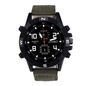 Relógio Masculino Esportivo Analogico Militar Pulseira Lona