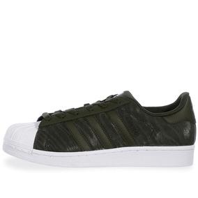 Tenis adidas Superstar Glitter Mesh J - Bb0314 - Verde Oliva