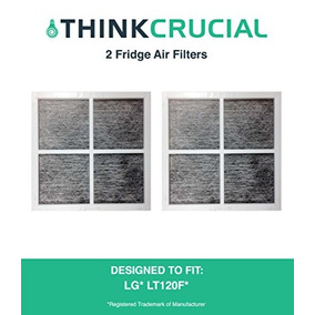 2 Lg Lt120f Air Purifying Fridge Filters, Part # Adq7333400