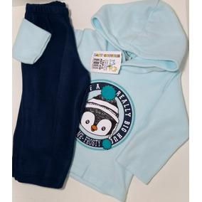 Conjunto Infantil Roupas De Frio Criança Soft Pinguim