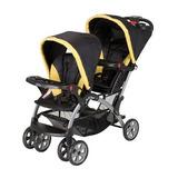 Carriola Baby Trend Sit N Stand Doble Gemela Plegable