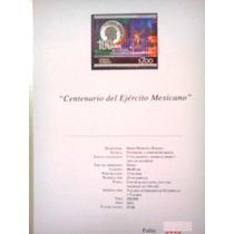 Estampilla E Historia Centenario Ejercito Mexicano