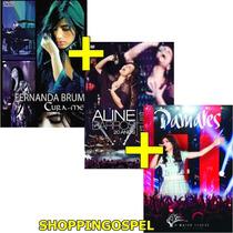 Kit 3 Dvds Aline Barros 20 Anos + Fernanda Brum + Damares