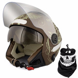 Capacete Moto Pro Tork New Atomic Highway Dreams Marrom