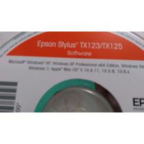 Cd De Instalação Para Impressora Epsom Tx123-125 Cd