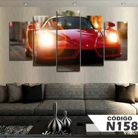 Quadros Decorativos Carro Ferrari Verm 63x130mt Frete Grátis ba59d75426b