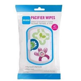 Pacifier Wipes - Mam - Lenços Para Limpar Bicos E Mamadeiras