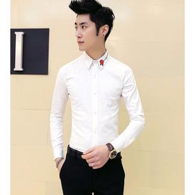 Camisas Ropa Hombre Ropa Coreana Slim Fit Korean Style
