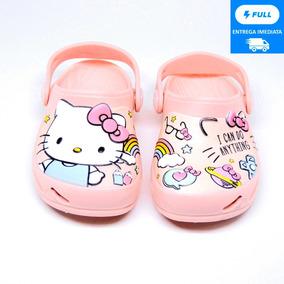 Sandália Babuche Menina Hello Kitty Infantil Plugt