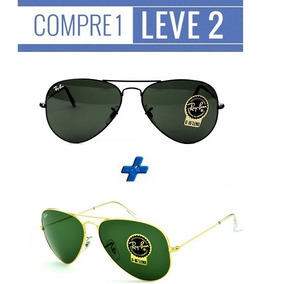 fd92cf9334432 Rayban 3312 Demolidor Lente Verde Leil o 1 Real - Óculos no Mercado ...