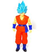 Dragon Ball Super Figura Goku Sayayin Dios Blue Luz Led 27cm