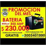 Baterías De Carro Willard 850 Amp Envio Gratis Barranquilla