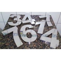Números Residenciais De 20cm Em Aço Inox (letras E Fachadas)
