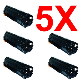 Kit 5 Peças Toner Compatível Hp Cf283a Cf283 283a 283 83a
